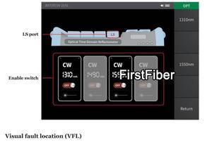 Image 5 - مقياس انعكاسات الألياف البصرية OTDR المدمج في VFL OLS OPM مع FC SC ST شاشة تعمل باللمس تقرير طباعة 1310nm 1550nm 32 30dB