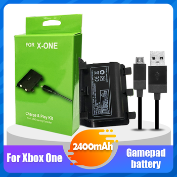 1PCS/Set 2400mAh Rechargeable Battery Pack With USB Cable For XBOX ONE Controller Wireless Gamepad Joypad Replacement Battery 1
