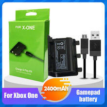 1 шт./компл. 2400mAh аккумуляторная батарея с USB кабелем для XBOX ONE контроллер беспроводной геймпад Joypad замена батареи