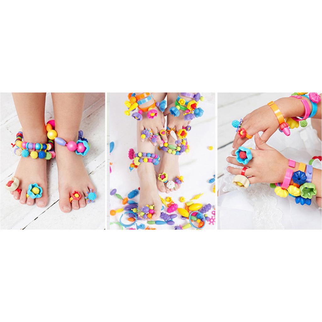 300x DIY Jewelry Kids Pop Beads Toy Snap Together Children Fun Fashion Kit