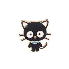 Black cat pins sveglio dello smalto del fumetto animale spille in metallo pet pin Distintivo pulsante Giubbotti jeans pin jeans Impertinente del gatto dei monili di(China)