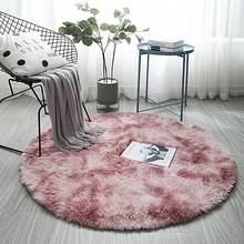 Simanfei Sheepskin Rug Nordic Soft Plush Wool Round Carpet Faux Fur Mat Area Living Room Fluffy Bedroom Chair Floor