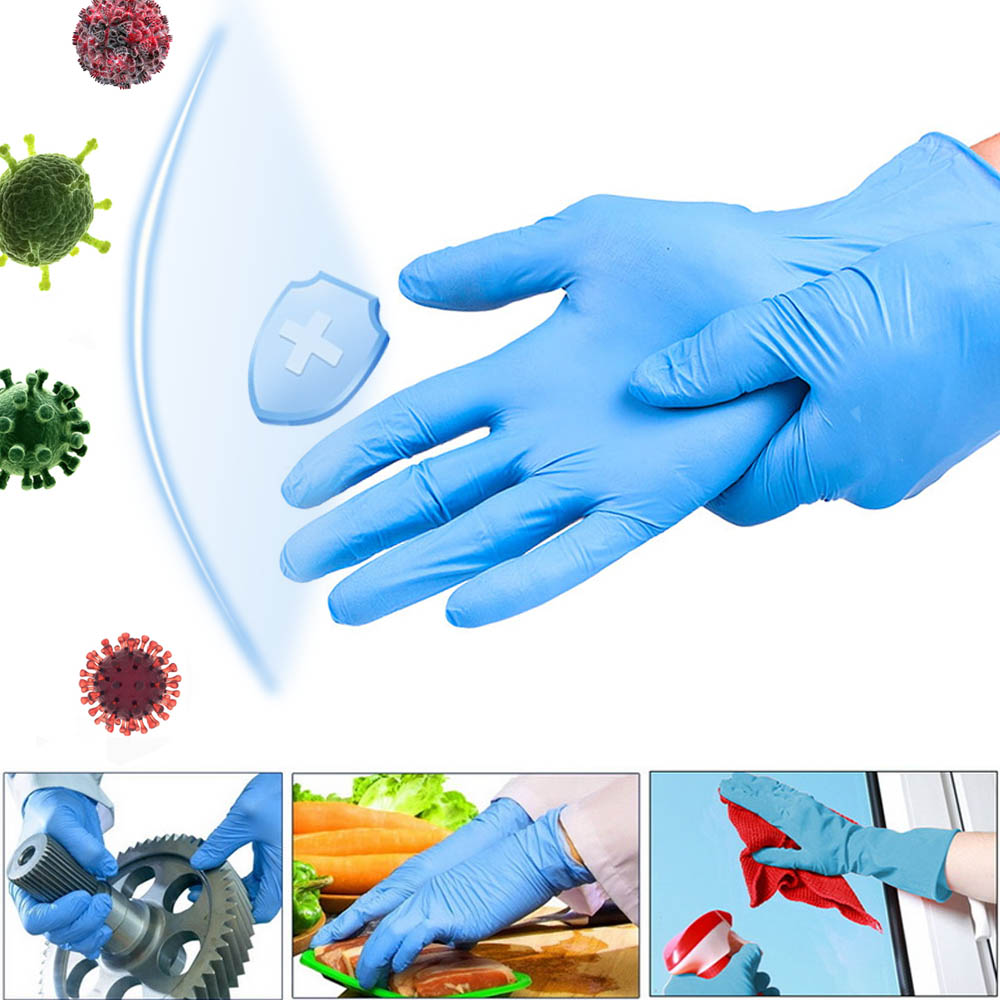 Disposable Nitrile Gloves Guantes Xl Lasticity And Soft Texture Wear Comfortably And Flexibly Anti-Chemical 100 Pcs/Box