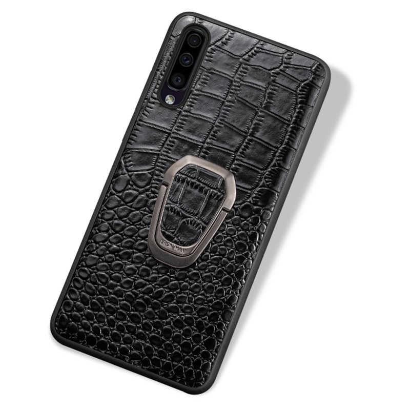 Deri telefon kılıfı için Samsung Galaxy S20 Ultra s10 s10e S7 s9 s8 A71 A70 A51 A50 not 8 9 10 artı 20 ultra manyetik standı kılıf