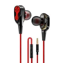 Earphone Headset Earbuds,Headphones Wired Magnetic Stereo Headphones in-Ear Super Bass Dual Drive Earphone For Huawei Samsung