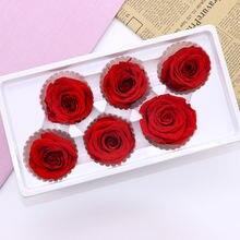 """6 шт/кор 5 см """"Законсервированные"""" цветы розы бессмертный"""
