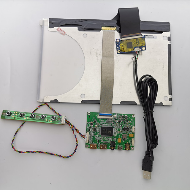 10,1 pulgadas LCD pantalla táctil capacitiva kit de módulo de 2560x1600 IPS 2mini HDMI módulo LCD coche Raspberry Pi 3 juego XBox PS4 Monitor