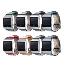 Compatible For Fitbit Ionic Bands Cowhide Genuine Leather Strap Smart Accessories Replacement Wristband 1EH