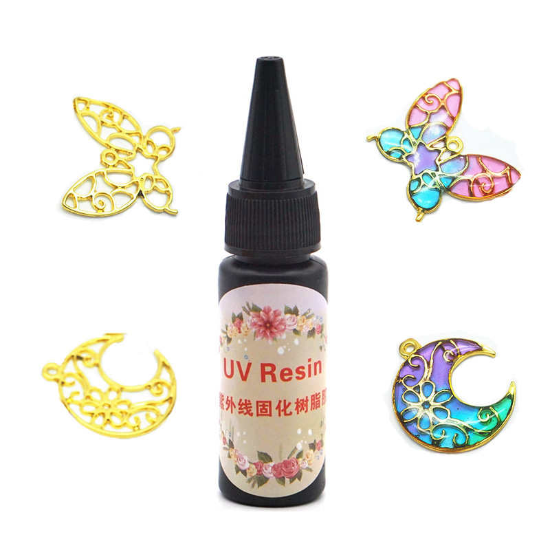 30g Clear UV LED Resin Hard Glue Ultraviolet Curing Resin For Home DIY Jewelry Making Craft Tools Necklace Earring Pendant