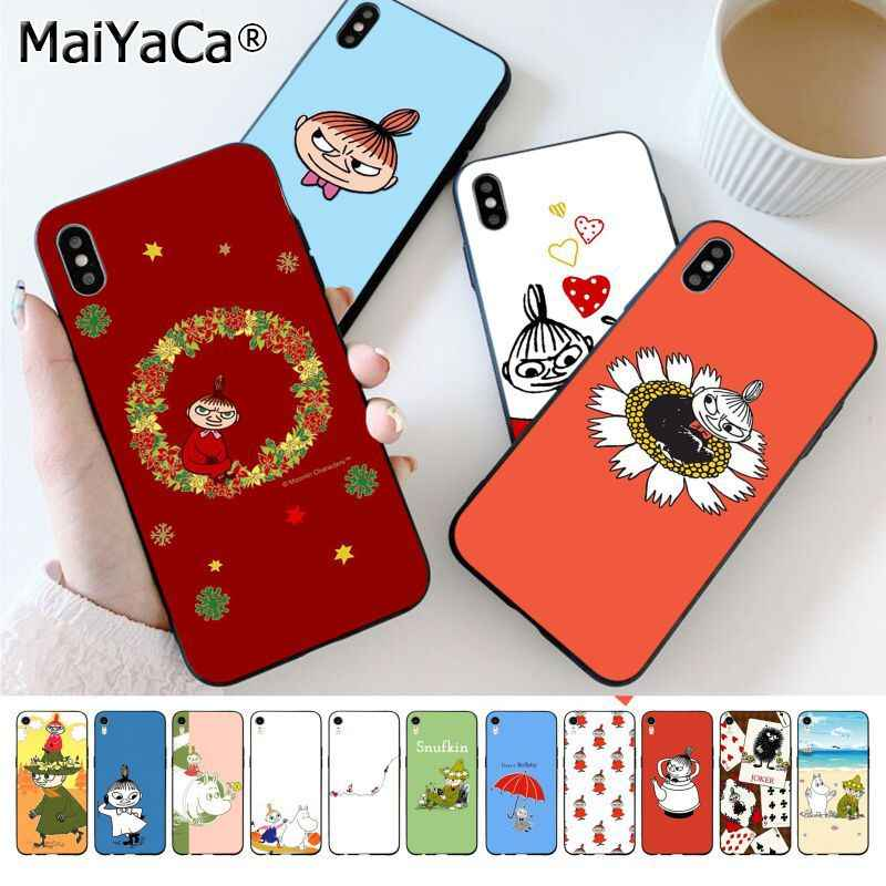 MaiYaCa Funny Moomin Little My Customer High Quality Phone Case for iphone 11 pro 8 7 66S Plus X XS MAX 5S SE XR Cellphones