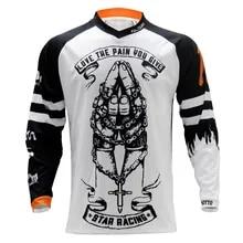 BMX Shirt Cycling Jersey Motocross-Jersey MTB Motorcycle Short-Sleeve ATV Hombre