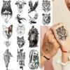 2021 Fiercely Tiger Eagle Temporary Tattoos For Men Women Arm Hand Fake Tattoo Sticker Tigerish King Of Beast Body Art