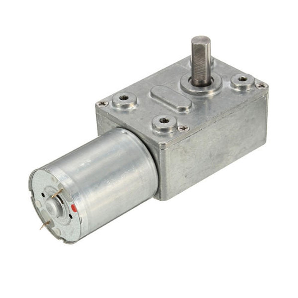 Gw370 Dc 12v 30rpm Reversible High Torque Turbo Worm Gear Motor Dc Reducer