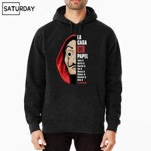 Men La Casa De Papel Cotton Hoodies Sweatshirts Unisex Hip Hop Swag Funny Harajuku Hoody Clothes Gift