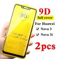 Protector de pantalla de vidrio templado 9D para móvil, película para Huawei Nova 3 3i, huawei nova 3 3i, huavei, huawey, Nova3 3 i, 2 uds.