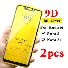 2pcs 9D Tempered Glass For Huawei Nova 3 3i Screen Protector tempered glass on For huawei nova 3 3i huavei huawey Nova3 3 i film on AliExpress