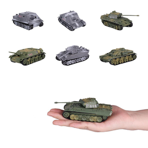 1:72 Plastic Assemble Tank Kits World War II Model Puzzle Assembling Military Sand Table Toys For Children Gifts
