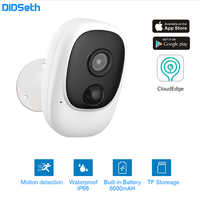 DIDseth 1080P kamera wifi akumulator zasilany z baterii kamera IP Full HD zewnętrzna wewnętrzna IP66 wodoodporna bezprzewodowa kamera do monitoringu