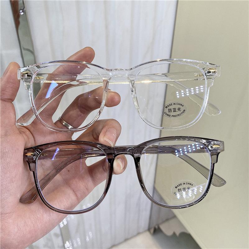 Female Computer Glasses Oversized Optical Eye Glasses Blue Light Blocking Gafas Lunette Frame Flat Mirror Eyeglasses XWM19222