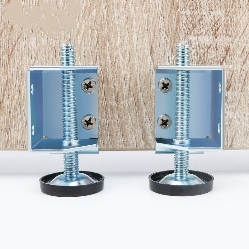 1 Set (2pcs) Screw Furniture Adjustable Cabinet Feet For Table Sofa Wardrobe Steel Leveling Feet Furniture Leg Accessories