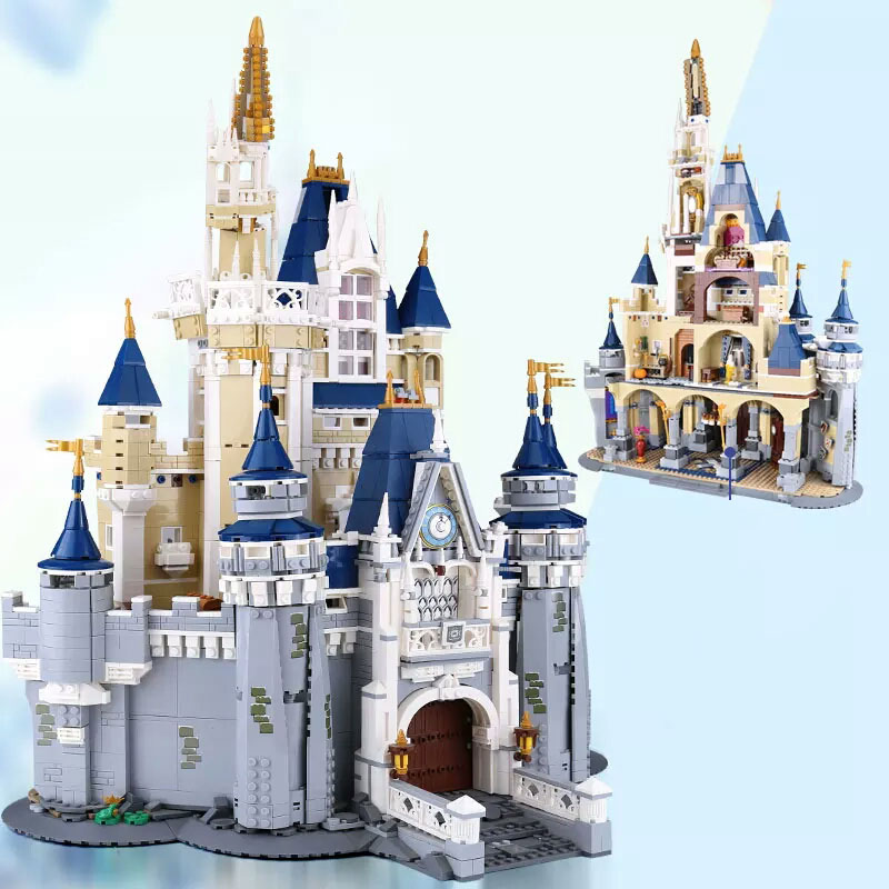 In stock 16008 4080Pcs City Street View Series Cinderella Princess Castle Building Blocks Bricks Kids Toys Christmas gift 71040 1