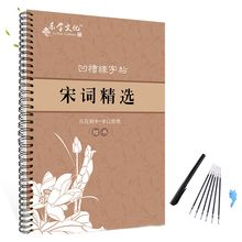 260x185mm 3D Chinese Characters Reusable Groove Calligraphy Copybook Erasable pen Learn hanzi Adults Art writing books china s famous carving books chinese calligraphy painting seal art techniques
