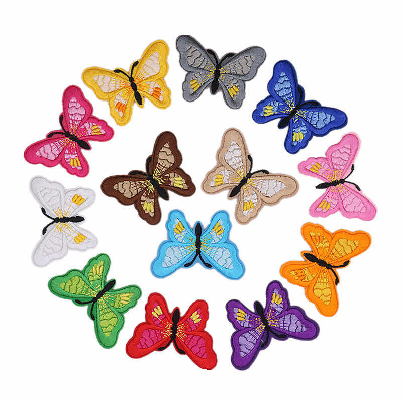 Вышитая заплатка в виде бабочки теплопередачи гладить на вышивать пачках для DIY