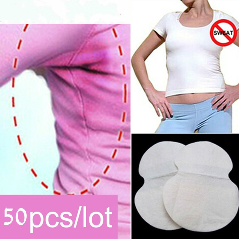 50pcs Disposable Absorbing Underarm Sweat Guard Pads Deodorant Armpit Sheet Dress Clothing Shield Sweat Perspiration Pads