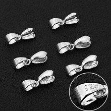 20pcs/lot Size S/M/L 925 Stering Silver Bail Connector Bale Pinch Clasp Pendant for DIY Necklace Pendant Necklace Jewelry Make