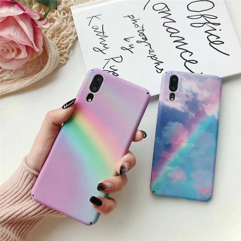 Full Protect Colors Paint Scrawl Hard PC Back Cover Phone Case Funda For Huawei Mate 20 30 P30 P20 Pro Lite Honor 10 Lite Case