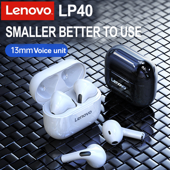 Lenovo LP40 TWS Bluetooth Earphones True Wireless Headset HD Stereo Headphone Noise Cancelling IPX4 Waterproof Gaming Earpods 1