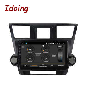 "Image 3 - Idoing 10.2 ""4G + 64G araba radyo multimedya Android oyuncu navigasyon gps Toyota Highlander için 2 XU40 2007 2014 NO 2 din DVD"