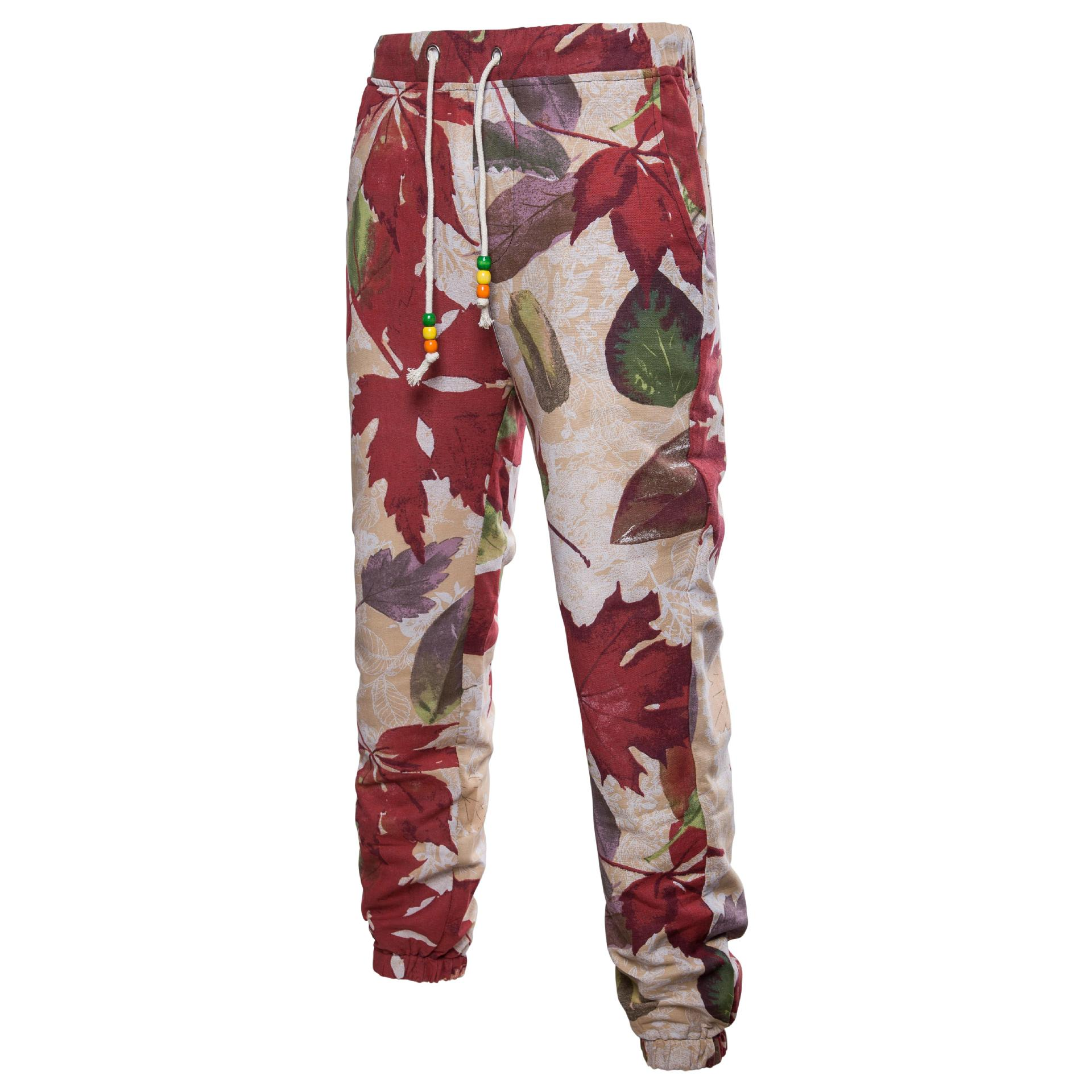 2018 New Style Floral Ethnic-Style Trousers Linen Pants Plus-sized Menswear Casual Pants Men's