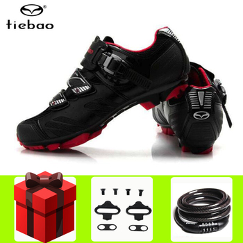 Tiebao Cycling Shoes sapatilha ciclismo mtb Pro Breathable Mountain Bike Non-slip Buckle Sneakers Men Triathlon Bicycle Shoes
