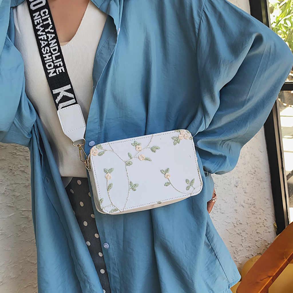 女性のファッションショルダーファニーパックレースレトロショルダーバッグ花ジッパー刺繍カジュアルウエストパックビーチバッグボルサ feminina