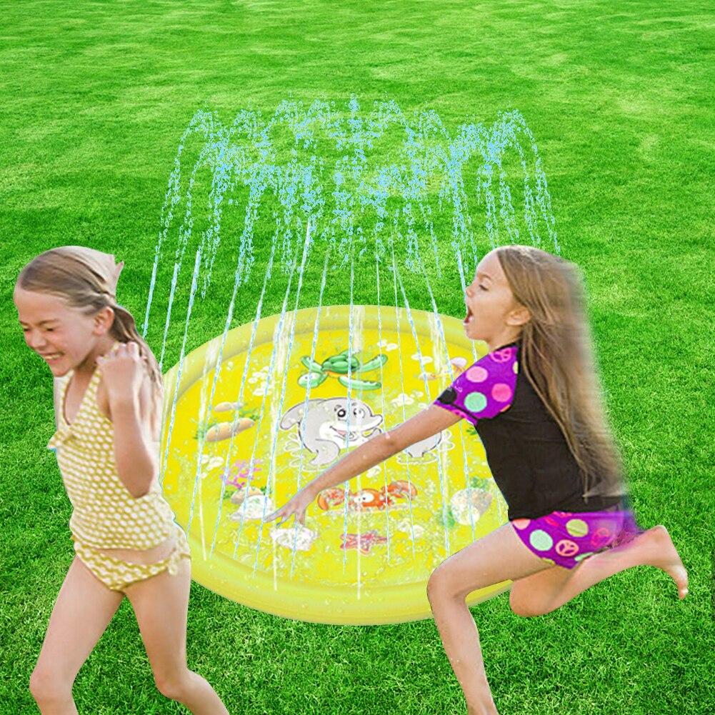 180cm Summer Dolphin Inflatable Water Spray Mat Kid Lawn Play Sprinkler Cushion Beach Inflatable Spray Water Cushion Toys