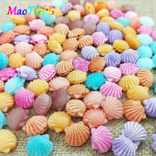 Multi-color Scalloped Coral Beads For Jewelry Making Artcrafts Shell Shape Colorful Coral Beads Hand-made Accessories Wholesale недорого