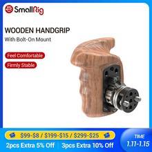 SmallRig Holzgriff Griff Rechts Side Quick Release Griff mit Arri Rosette Bolt On Halterung Für Universal Kamera Hand grip 2083