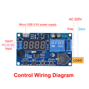 Image 3 - DC 5V Real time Timing Delay Timer Relay Module Switch Control Clock Synchronization Multiple mode control Wiring diagram
