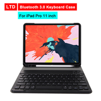 Bluetooth 3.0 Tablet Keyboard Case For iPad Pro 11 inch Mediapad PU Flip Leather Protective Cover For Apple iPad With Keyboard