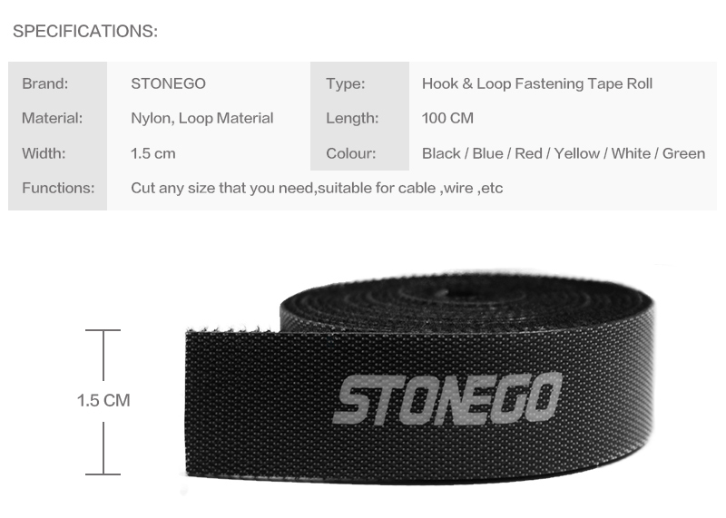 STONEGO USB Cable Winder Cable Organizer Ties Mouse Wire Earphone Holder Kabel HDMI Free Cut Management Phone Hoop Tape Protector