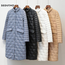 SEDUTMO Winter Long Duck Down Jackets Women Ultra Light Over