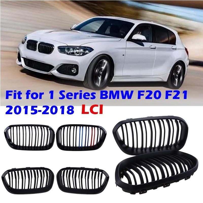 Передний бампер, радиатор с двойной пластиной, Спортивная решетка для BMW F20 F21 LCI 120i 1Series 2015 2016 2017, автомобильные аксессуары