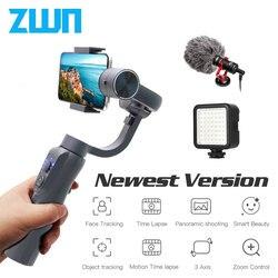ZWN S5B обновленная версия 3-х осевой ручной шарнирный стабилизатор для камеры GoPro w/фокус Pull & Zoom для iPhone Xs Xr X 8 Plus 7 samsung экшн Камера
