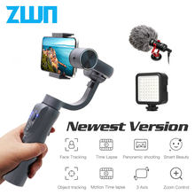 Zwn S5B Verbeterde Versie 3-Axis Handheld Gimbal Stabilizer W/Focus Pull & Zoom Voor Iphone Xs Xr X 8 Plus 7 Samsung Actie Camera(China)