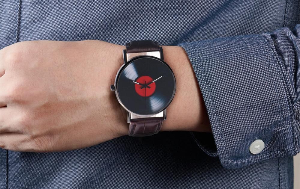 H4a2de9fc5cf54da483db24bd515603911 2020 Fasion Men's Watch Neutral Watch Retro Design Brand Analog Vinyl Record Men Women Quartz Alloy Watch Gift Female Clock NEW