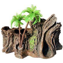 Резина рептилия Платформа искусственный ствол дерева еда чаша