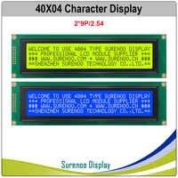 404 40x4 4004 caracteres lcd módulo display tela lcm amarelo verde azul com luz de fundo led build-in splc780d controlador