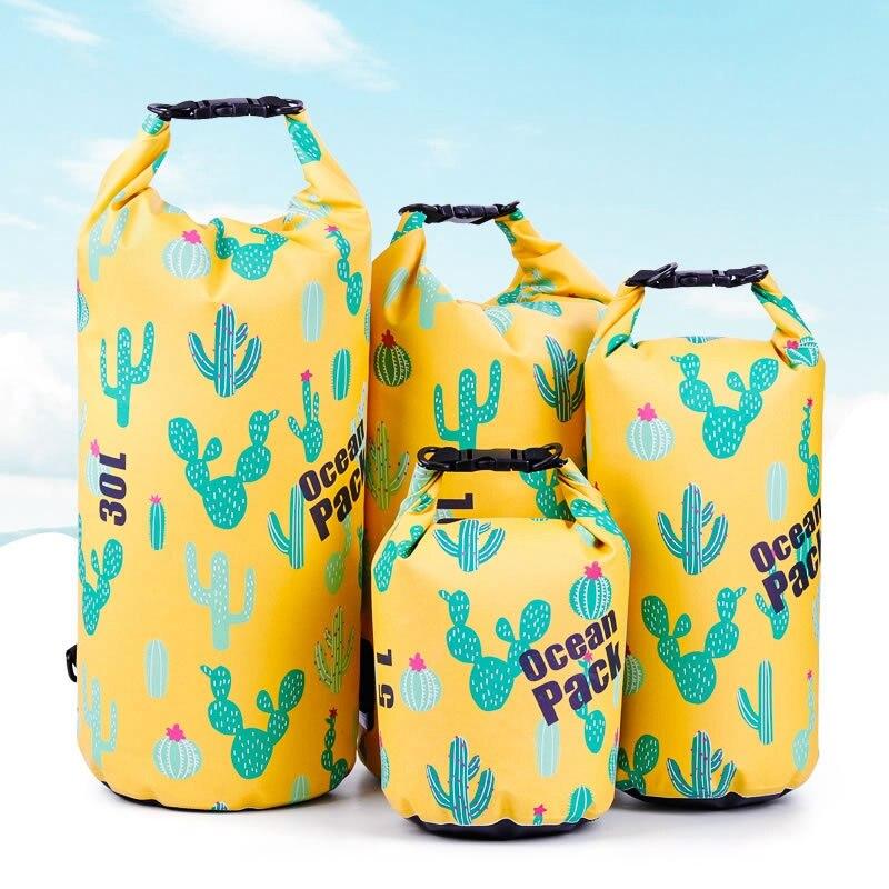 Outdoor Bag Ocean Pack Portable Rafting Diving Waterproof Bag Dry Bag Sack PVC  Folding Swimming Storage Bag For River Trekking