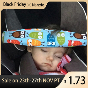 New Child Car Safety Seat Head Fixing Auxiliary Cotton Belt Pram Secure Strap Doze Band for Baby Pram Child Safety Seat